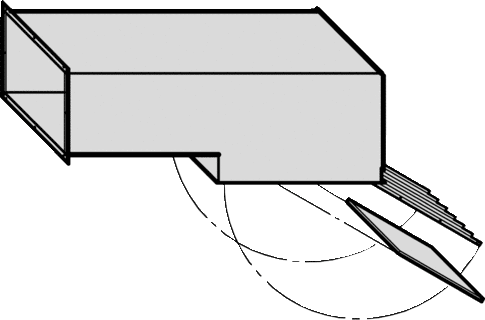 Air inlet angled section, 90°