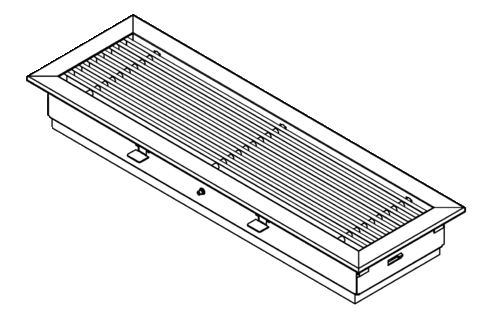 Internal air grille, rigid design