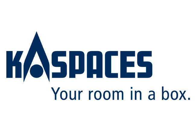 Logo and lettering of the company KaSpaces - Your room in a box.