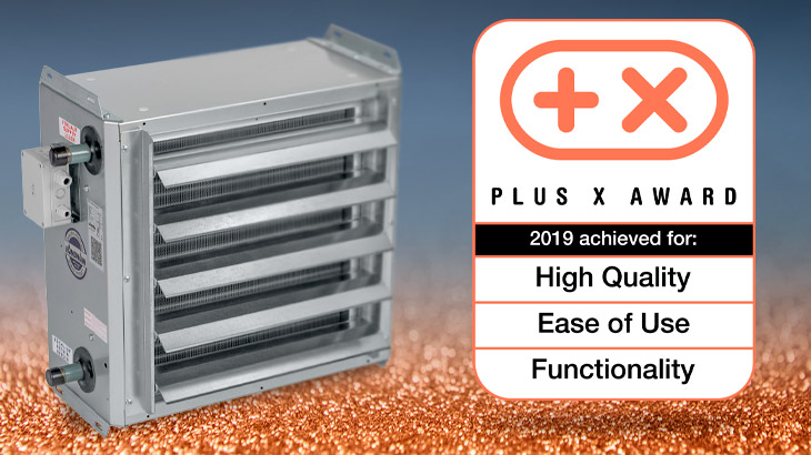 Unit heater wins the Plus X Award for Innovation
