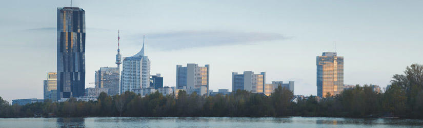 Skyline Donau City in Vienna